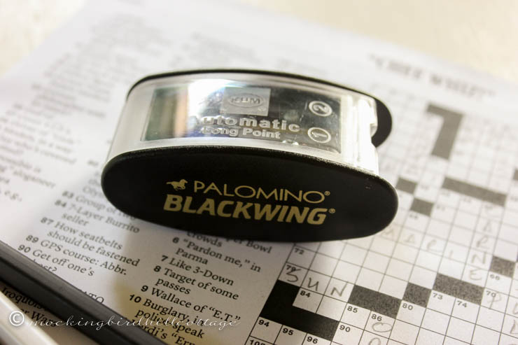 four blackwings and a sharpener