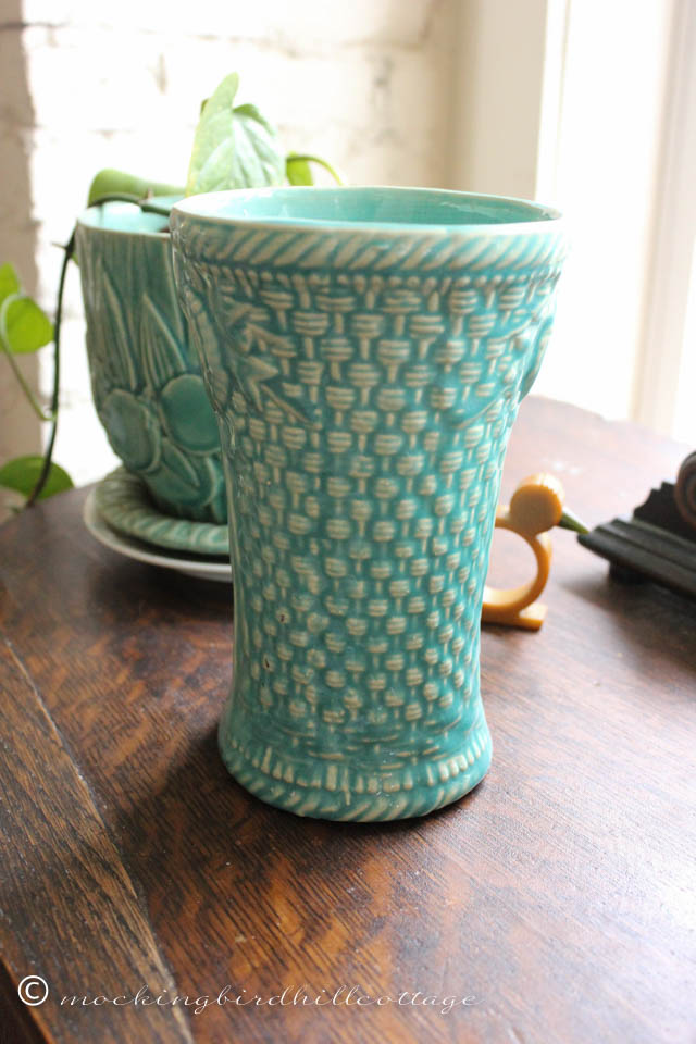 4-28 mccoy basketweave vase 1