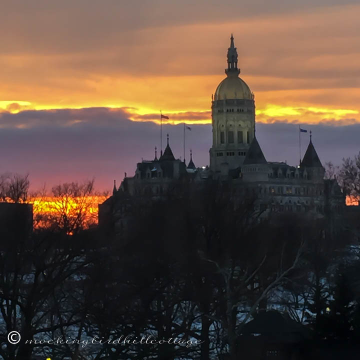 1-26 sunset over the capitol