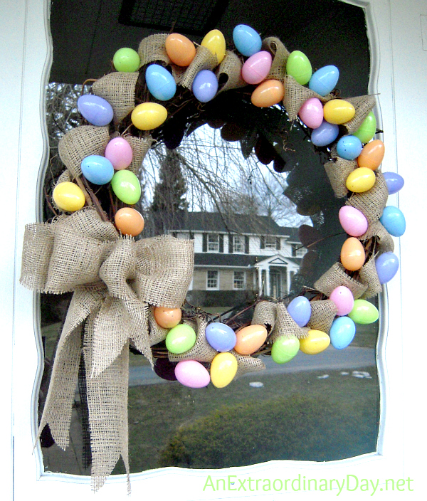 Pastel-Eggs-Burlap-Grapevine-Easter-Wreath-AnExtraordinaryDay.net_