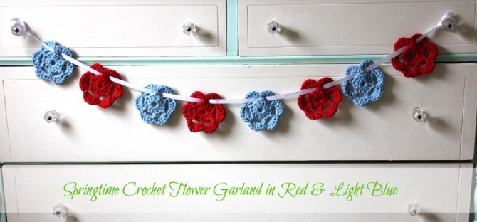 Springtime Crochet Flower Garlands A Shop Update