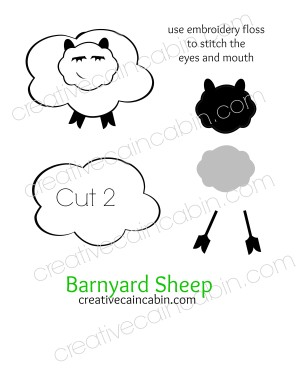 Barnyard Sheep Felt Pattern