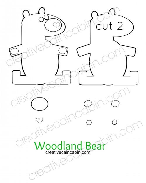 Woodland Bear Felt Pattern