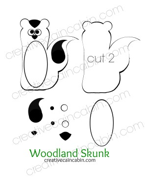 Woodland Skunk Felt Pattern