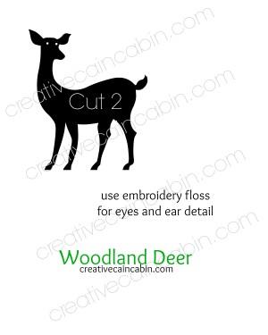Woodland Deer Felt Pattern