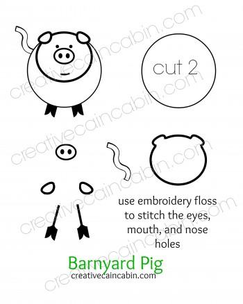 Barnyard Pig Felt Pattern