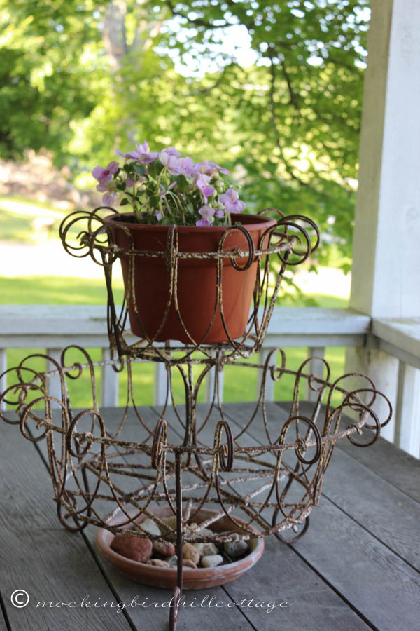 Great wrought iron planter