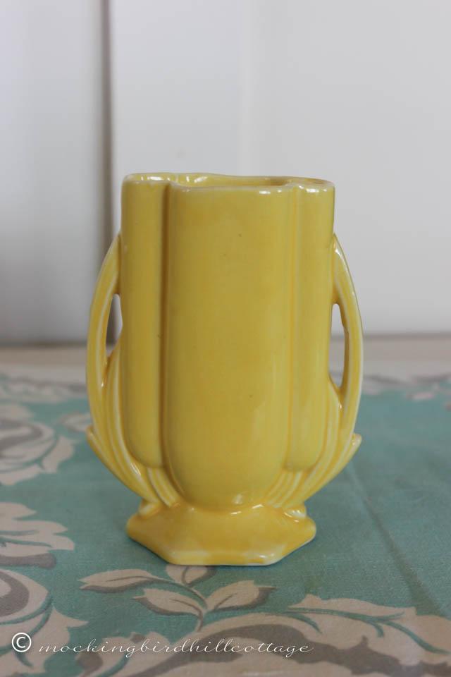 4-20 yellow 5 inch vase
