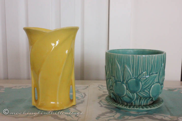 4-22 yellow vase and pot