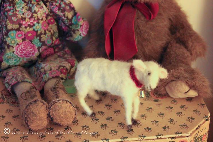 11-20 lamb on bookshelf